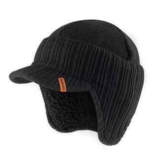 Bonnet à visière noir - Taille unique