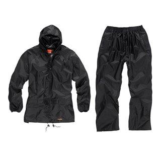 Combinaison imperméable noire 2 pièces - Taille XL