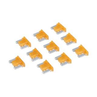 Micro-fusibles automobiles ATT profile bas à lame, 10 pcs - 5 A, Brun