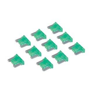 Micro-fusibles automobiles ATT profile bas à lame, 10 pcs - 30 A, Vert