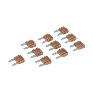 Micro-fusibles automobiles ATM à lame, 10 pcs - 7,5 A Marron