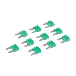 Micro-fusibles automobiles ATM à lame, 10 pcs - 30 A, Vert