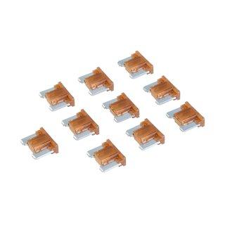 Micro-fusibles automobiles ATT profile bas à lame, 10 pcs - 7,5 A, Marron
