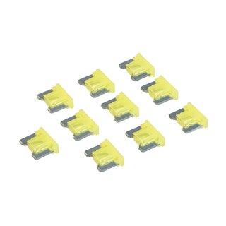 Micro-fusibles automobiles ATT profile bas à lame, 10 pcs - 20 A, Jaune