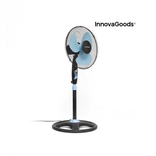 Ventilateur sur Pied InnovaGoods Ø 40 cm 50W Noir bleu