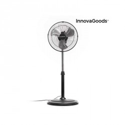 Ventilateur sur Pied Oscillant 360° InnovaGoods Ø30 cm 60W Noir