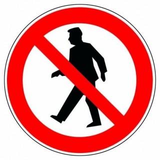 Panneaux De Signalisation interdit aux piétons