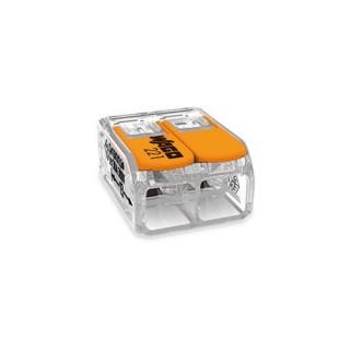 Borne De Raccordement Compact - Pour Tous Types De Conducteurs - Max. 6 Mm² - 2 Conducteurs - Avec Leviers - Boîtier Transparent