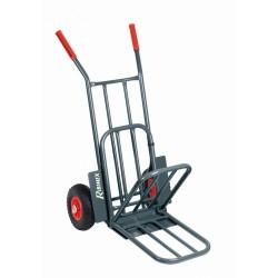 Chariot diable roues increvables 250 kgs bavette rabattable
