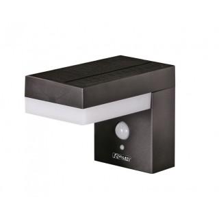 Applique solaire 75-600Lm (3 positions) + détecteur, murale support rectangulaire noir