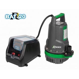 """Pompe immergée """"R-BAT20"""", 20volt, 125W, 3m3/h, livrée sans batterie ni chargeur"""