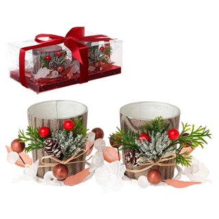 Bougeoir (2 pcs) Verre