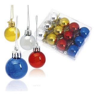 Boules de Noël (12 pcs) Métallisé 143360-Couleur-Multicouleur