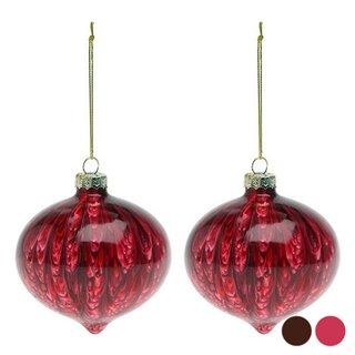 Boules de Noël (2 pcs) 112490-Couleur-Rouge