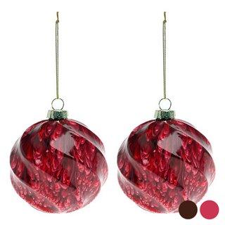 Boules de Noël (2 pcs) 112537-Couleur-Rouge