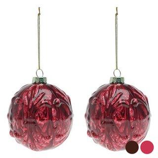 Boules de Noël (2 pcs) 112575-Couleur-Rouge
