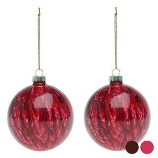 Boules de Noël (2 pcs) 113572-Couleur-Rouge