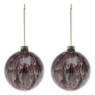 Boules de Noël (2 pcs) 113572-Couleur-Marron