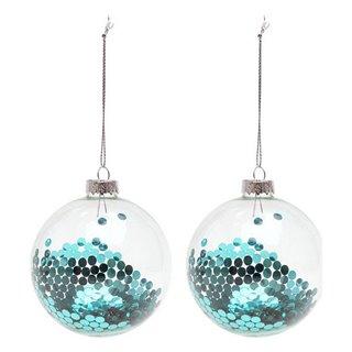 Boules de Noël (2 pcs) 119803-Couleur-Bleu