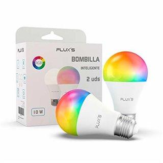 Ampoule à Puce Flux's LED Wi-fi E27 10W Multicouleur (2 pcs)