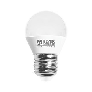Ampoule LED Sphérique Silver Electronics 960727 E27 7W Lumière chaude-Choisissez votre option-3000K