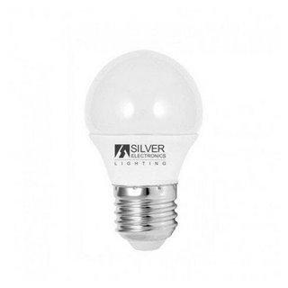 Ampoule LED Sphérique Silver Electronics ECO E27 5W Lumière blanche-Choisissez votre option-6000K