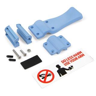Emuca Mécanisme ouvre-porte sans contact de l'avant-bras, plastique, bleu.