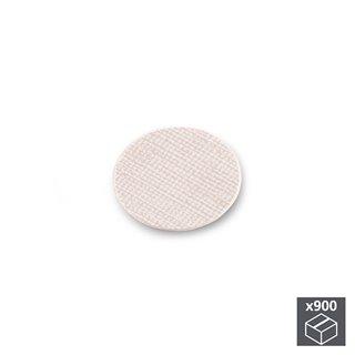 Lot de 900 pastilles adhésives Emuca D. 20 mm en finition effet textil beige