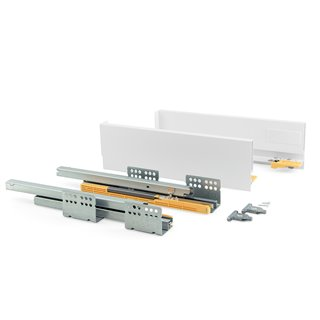 Kit de tiroir Concept Emuca hauteur 105 mm et profondeur 450 mm finition blanc