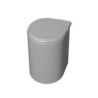Emuca Poubelle de recyclage, 13L, fixation sur porte, ouverture couvercle automatique, Plastique, gris.