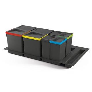 Kit de poubelles à base Recycle pour tiroir de module 900 mm Emuca 15L, 7L, 7L