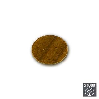 Lot de 1.000 pastilles adhésives Emuca D. 13 mm en finition marron