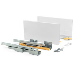 Kit de tiroir Concept Emuca hauteur 185 mm et profondeur 350 mm finition blanc