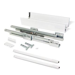 Kit de tiroir Vantage-Q Emuca hauteur 141 mm et profondeur 500 mm avec tringles finition blanc