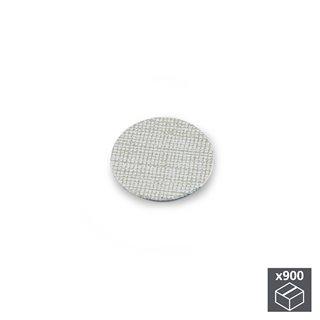 Lot de 900 pastilles adhésives Emuca D. 20 mm en finition effet textil gris