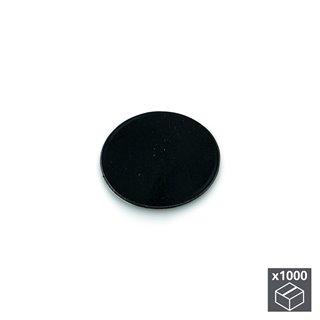 Lot de 1.000 pastilles adhésives Emuca D. 13 mm en finition noir