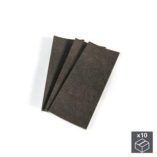 Lot de 10 sachets de 3 patins en feutre adhésifs rectangulaires Emuca 100 x 250 mm