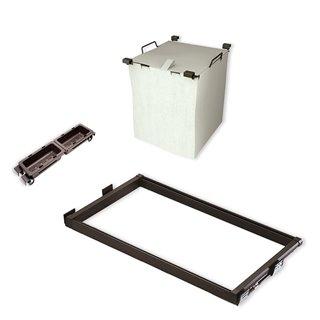 Kit de coulisses, panier à linge et plateaux auxiliaires Moka Emuca pour module 600 mm