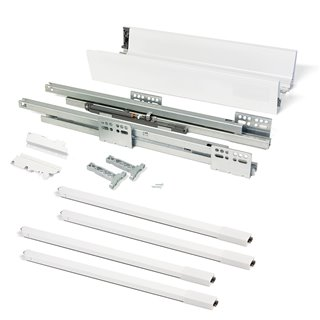 Kit de tiroir Vantage-Q Emuca hauteur 204 mm et profondeur 350 mm avec tringles finition blanc