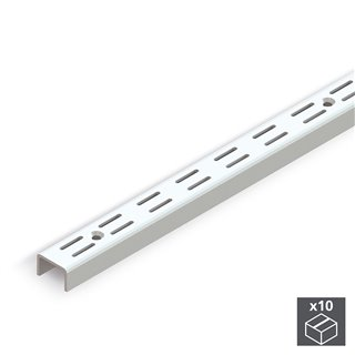 Lot de 10 Profils armoire Jagmet Emuca perforation double 951 mm
