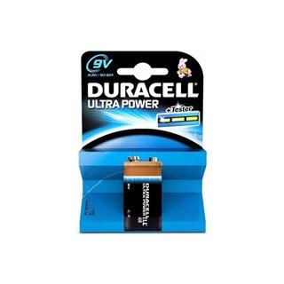 Duracell - Pile Alcaline Ultra Power E-Bloc 9 V - Mx1604