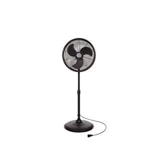 Ventilateur Sur Pied - Métal - Ø 45 Cm - Noir