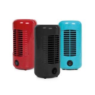 Présentoir Avec 3 Ventilateurs - Ø 20 Cm - Rouge - Noir - Bleu