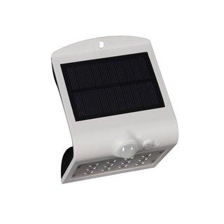 Lampe Led Solaire Avec Capteur Pir - 1.5 W - Blanc
