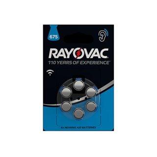 Pile Bouton Zinc Air Rayovac 1.45 V - 630 Mah 4600.745.416 (6 Pcs/Bl)
