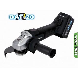 "Meuleuse angle 125mm PRO BRUSHLESS ""R-BAT20"" batterie 20V 4amp + chargeur rapide"
