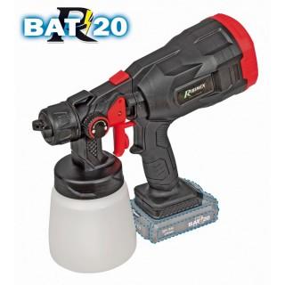 """Pistolet à Peinture """"R-BAT20"""" 20V Sans Batterie Ni Chargeur"""