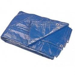 Bache Plastique 6X10M, 80G/M2 Couleur Bleu