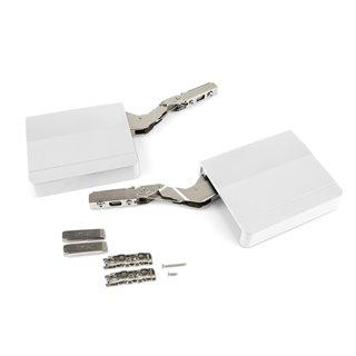 Emuca Compas pour portes relevables, force 960-2.350, Acier et plastique, Blanc
