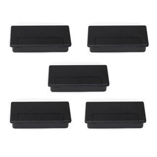 Emuca Passe-câbles pour table Plasquare 1, Plastique, Noir, 5 un